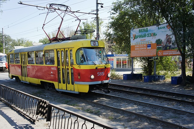 tramvaj veřejné dopravy
