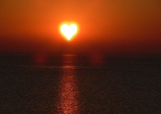 slunce jako srdce