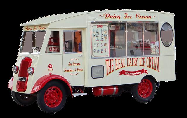 pojízdná prodejna se zmrzlinou
