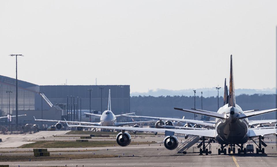stojící letadla