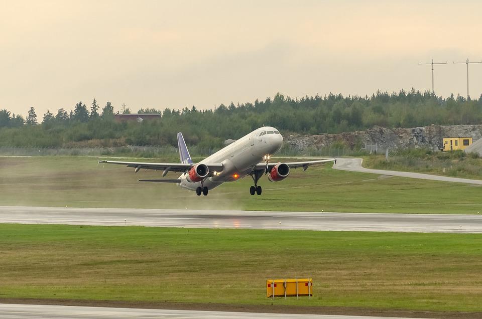 stoupající letadlo